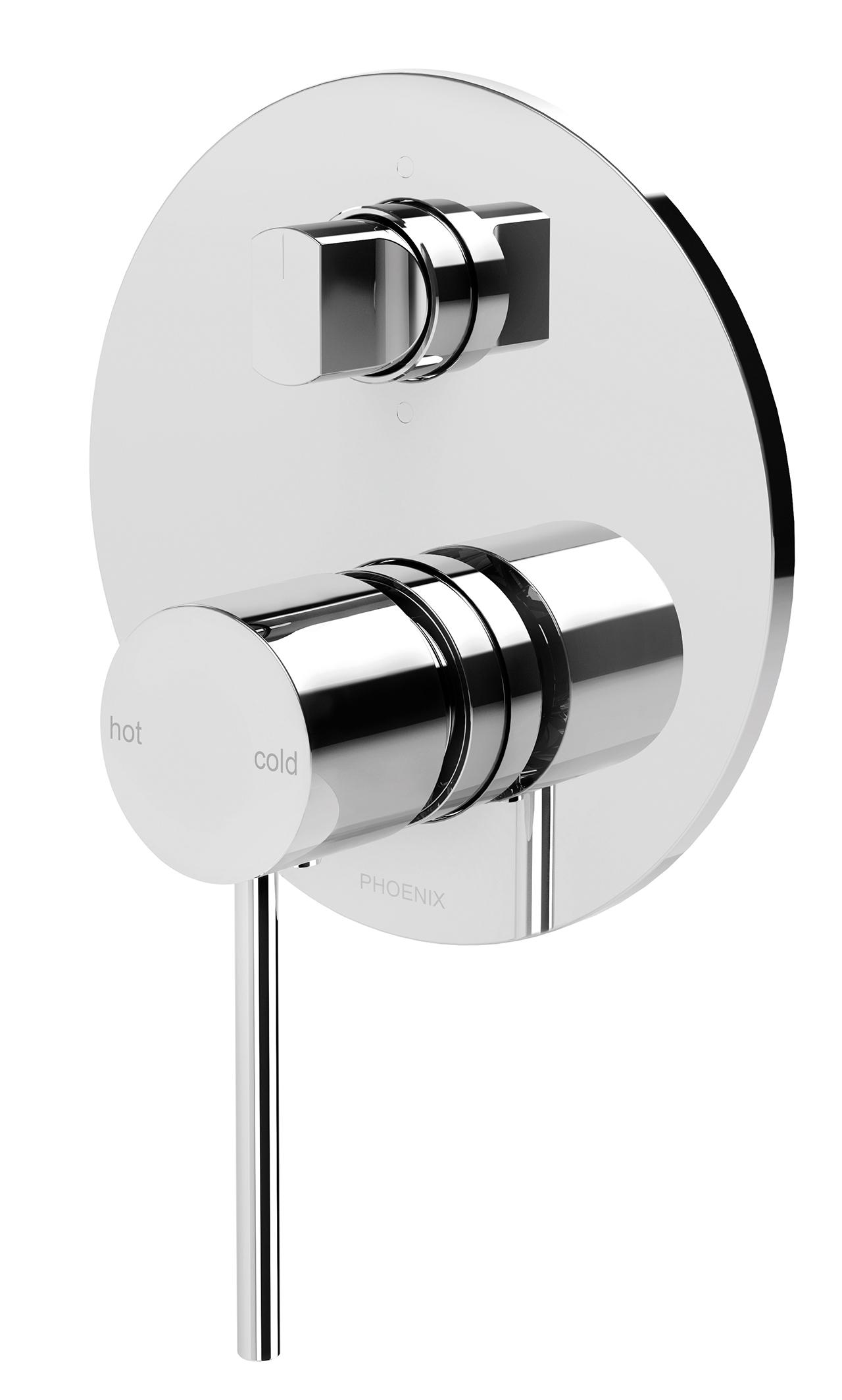 Phoenix Chrome Plated Vivid Slimline Shower/Bath Mixer with Diverter ...